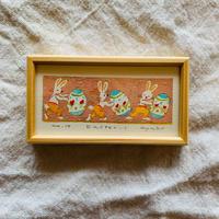 小さな版画絵ayako  「Easter」17