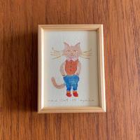 ayako 版画絵「cat」