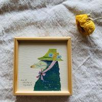 小さな版画絵ayako  「Mole」7