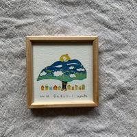 小さな版画絵ayako「空をまとう-1」310-14