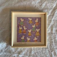 小さな版画絵ayako 「ねずみたち」127−2