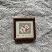 小さな版画絵ayako「桜-2」310-18