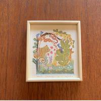 小さな版画絵ayako Shangri-la   no17     74-8