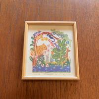 小さな版画絵ayako Shangri-la   no18     74-9