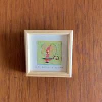 小さな版画絵ayako 「ロウソク」4−14