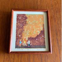 小さな版画絵ayako  「夜-1」  1012-4