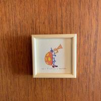 小さな版画絵ayako 「テントウ虫」no1