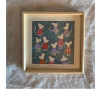 小さな版画絵ayako 「ねずみたち」127−5