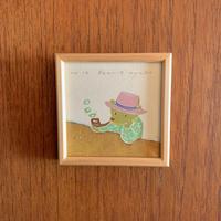 小さな版画絵ayako 「Bear」no12