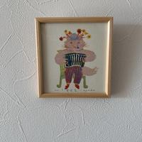 小さな版画絵ayako 「音楽家」pink