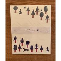 西 淑レターセット  「forest」