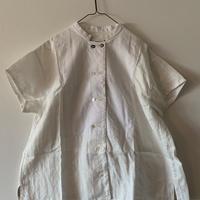 洋ふく屋めがね「夏のコックシャツ」white