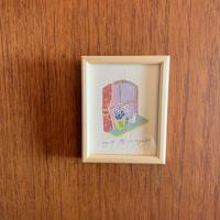 小さな版画絵ayako 「窓」no17