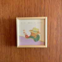 小さな版画絵ayako 「Bear」no14