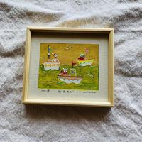 小さな版画絵ayako  「舟あそび」18