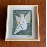 小さな版画絵ayako  「天使-1」  1012-7