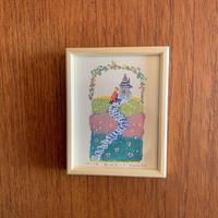 小さな版画絵ayako 「丘の上」no16