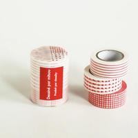 mitsuマスキングテープ 3柄set   red
