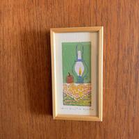 小さな版画絵ayako「ランプ」no11