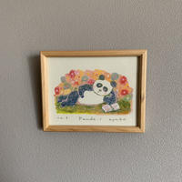 小さな版画絵ayako「 panda-1」61-18