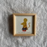 小さな版画絵ayako 「Mouse」127−17