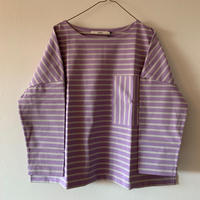 Nîmes  ポケット付きプルオーバー lavender×light  gray