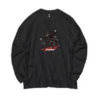 Ninja braiding L/S TEE  ( BLACK)予約商品