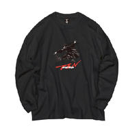 Ninja braiding L/S TEE  ( BLACK)
