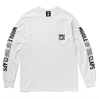 MOC POCKET   L/S  T-SHIRT   (WHITE)