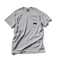 CLAPS BASIC LOGO POCKET T-SHIRT (GREY)