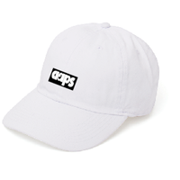 BASIC BOX LOGO CAP (WHITE)