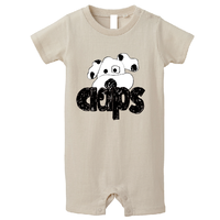 CLAPS WANCHAN  BABY ROMPERS (BEIGE) 80サイズ