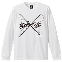 TSURIBU CROSS ROD  L/S T-SHIRT (WHITE)