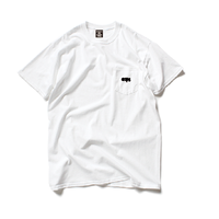 CLAPS BASIC LOGO POCKET T-SHIRT (WHITE)