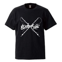 TSURIBU CROSS ROD  T-SHIRT (BLACK)
