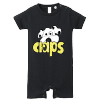 CLAPS WANCHAN  BABY ROMPERS(BLACK)