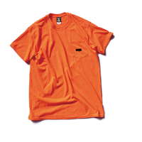 CLAPS BASIC LOGO POCKET T-SHIRT (ORANGE)