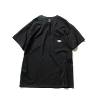 CLAPS BASIC LOGO POCKET T-SHIRT (BLACK) 4月上旬開始〜4月下旬発送予定