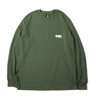CLAPS BASIC ONE POINT LOGO  L/S T-SHIRT (MG) 4月上旬開始〜4月下旬発送予定
