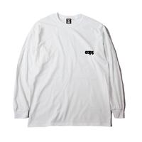 CLAPS BASIC ONE POINT LOGO  L/S T-SHIRT (WHITE)