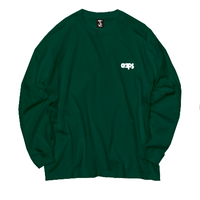 ONE POINT CLAPS BASIC LOGO  L/S  T-SHIRT   (FUKA GREEN)
