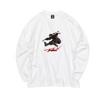 Ninja braiding L/S TEE  ( WHITE)