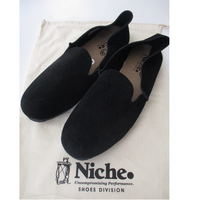 【SALE】Niche/ニッチ. Marco slip on shoes - BLACK /ニッチ スリッポン シューズ
