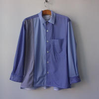 """【SALE】CURLY&co CURLY/カーリー CLOUDY L/S SHIRTS """"Panel Stripe""""-211-31022PN"""