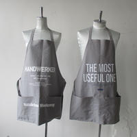 2020 SPRING AND SUMMER. ATELIER BETON/アトリエべトン CANVAS APRON-GRAY /キャンバス エプロン グレイ