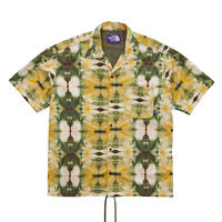 【SALE】2020SS. The North Face PURPLE Tie Dye Print H/S Shirt/ザノースフェイスパープルレーベル タイダイプリント オープンカラーシャツ