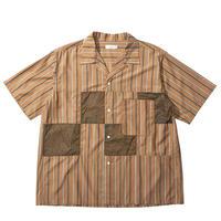 【SALE】2020SS. nanamica Open Collar H/S Shirt-SUGS078- BR/ナナミカ オープンカラー シャツ ブラウン