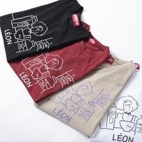 CORN FLAKE マチルダイラストラウンドTシャツ (ユニセックス)