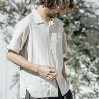 ANGENEHM(アンゲネーム)】 Loose Open Collar Shirts シャツ