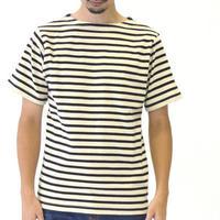 ヘビーウェイトマリンボーダーボートネック半袖Tシャツ 3colors